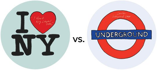 I heart NY or London Underground