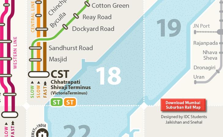 Mumbai Suburban Rail Transit Map